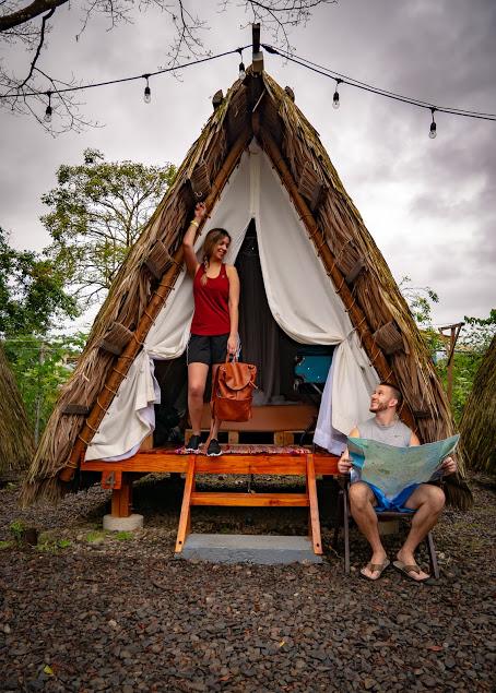 Travelers Teepee tent at Selina La Fortuna in Costa Rica