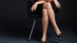 sitting with legs crossed