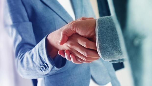 handshake - touch at work