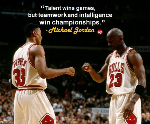 michael jordan team quote