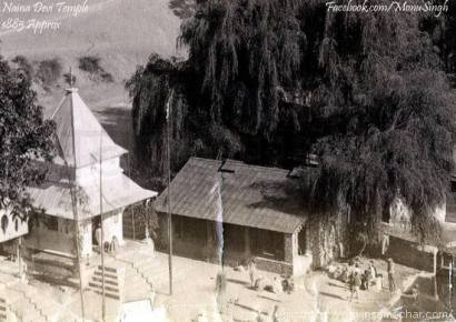 1885 (approx). Newly constructed Naina Devi Temple