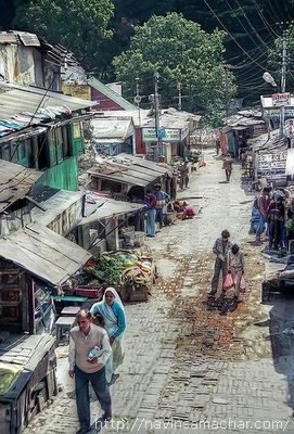 Nainital Streets Coloured