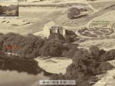 नैनीताल 1865, भूख्स्खलन से पूर्व बेल की दुकान आदि.