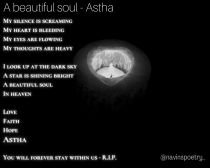 A beautiful soul – Astha