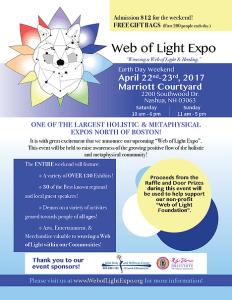 Web of Light Expo, April 2017