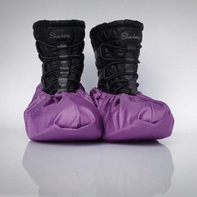 návleky na topánky / fialové