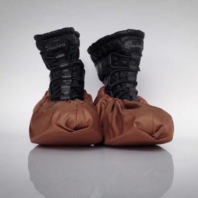 návleky na topánky / hnedé