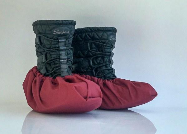 návleky na obuv bordové