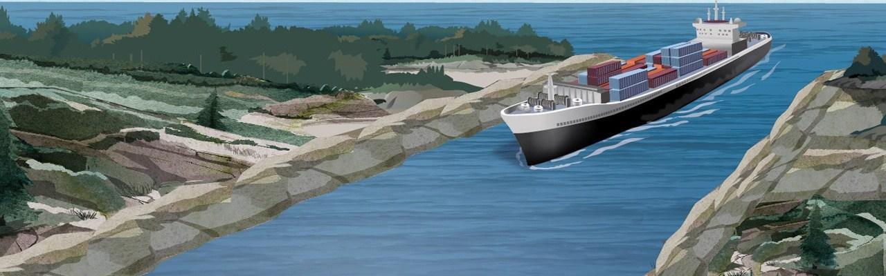 Маневрирование судов в узкостях