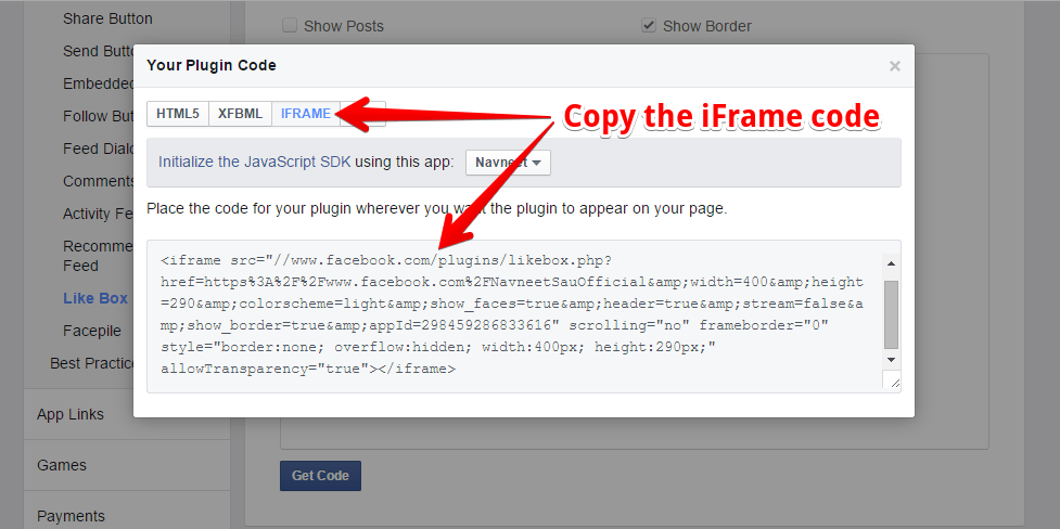 Facebook Like Box - Plugin Code