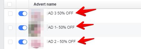 Advert Name