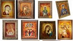 Иконы из янтаря в подарок