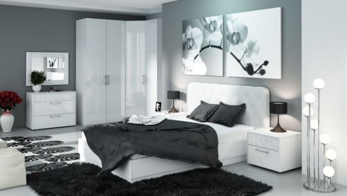 черное в спальне