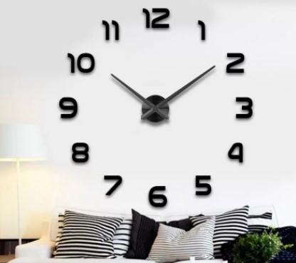 черные часы в спальне