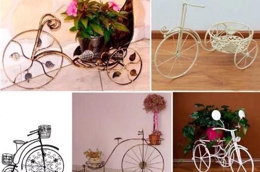 Подставки под цветы Велосипеды
