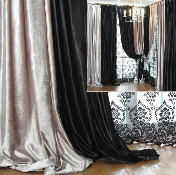 шторы бархатные