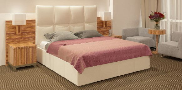 Двуспальная кровать в спальню. Какой размер кровати, и как установить?