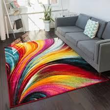 красочный ковер с интенсивными цветами