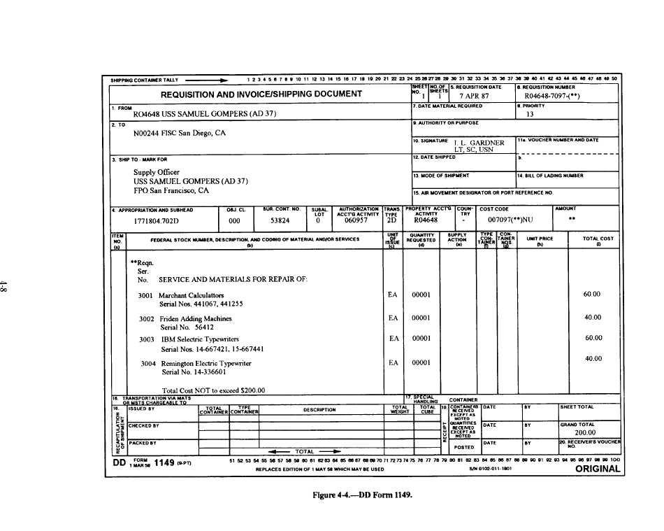 DD Form 1149 1265466