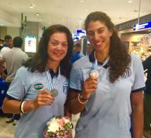 Οι δύο παγκόσμιες πρρωταθλήτριες στο αεροδρόμιο της Αθήνας