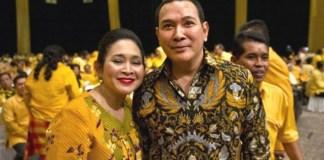 Ketua Dewan Pembina Partai Berkarya Siti Hediati Hariyadi dan Tommy Soeharto