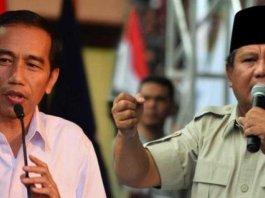 Presiden RI Jokowidodo dan Prabowo Subianto