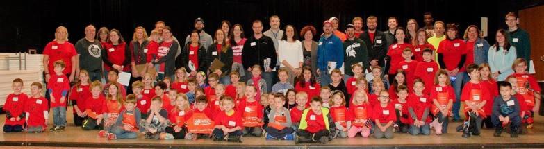 Block Kids 2017 group - judges, volunteer and kids