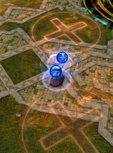 Illustration - polarité entre le joueur et le sol