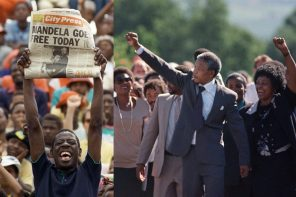 27 Years today: (11-02-1990) Nelson Mandela is released from 27 years of  political incarceration