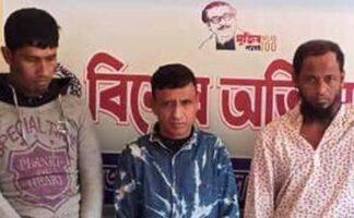 চোরাই ১০ ভরি স্বর্ণালংকারসহ ৩ সক্রিয় চোর আটক হাটহাজারীতে