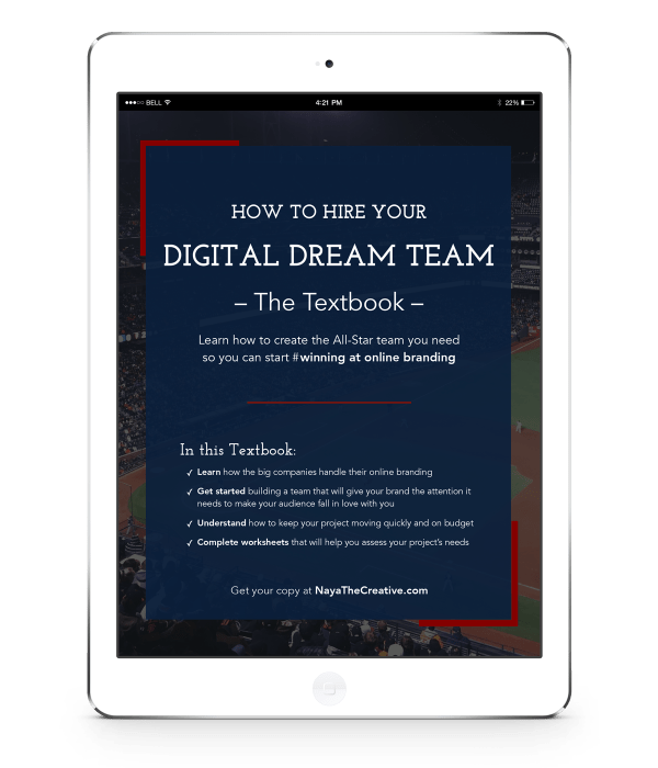 How to Hire Your Digital Dream Team Textbook Cover iPad