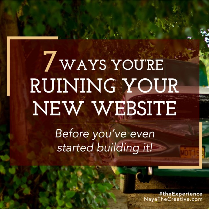 Seven Ways You're Ruining Your New Website Square