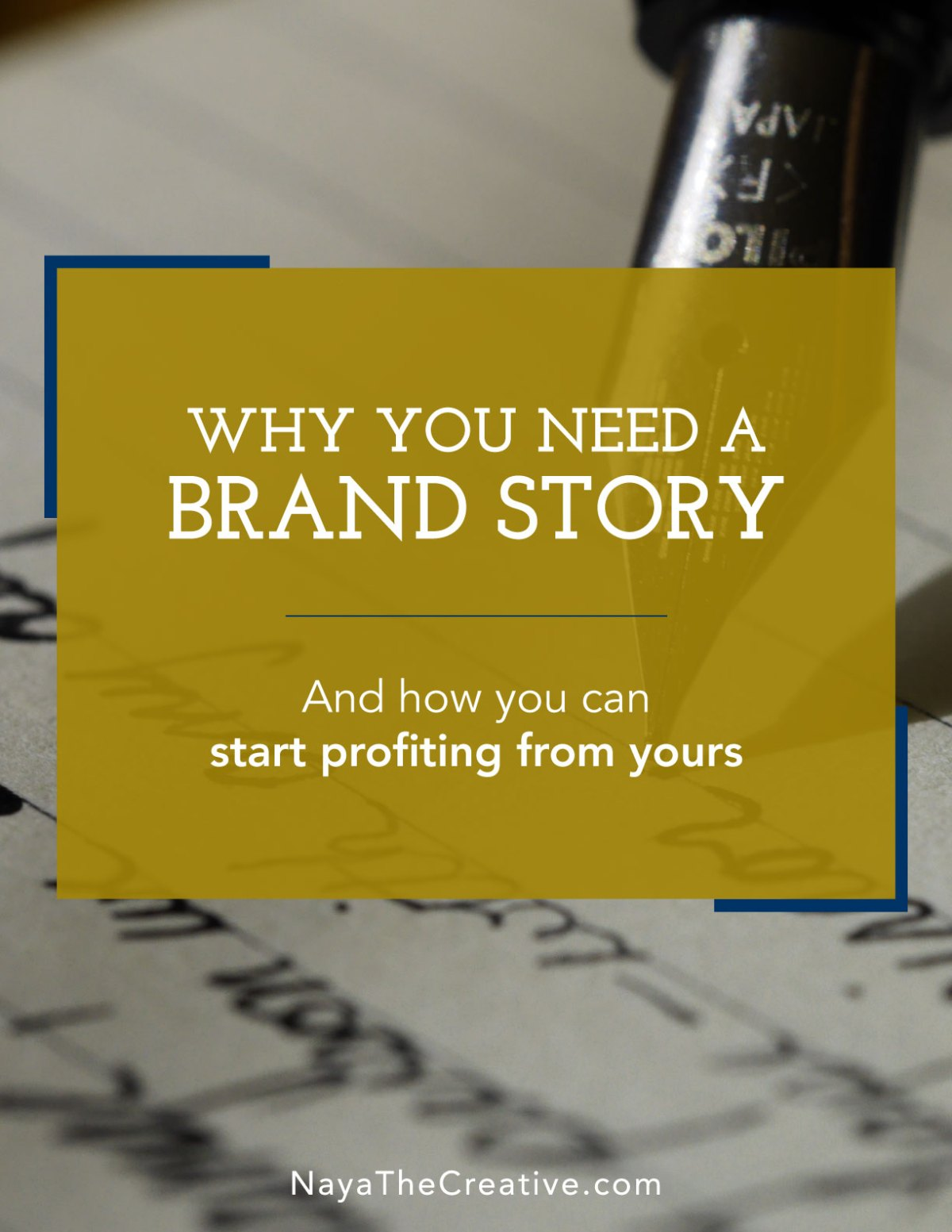 Why you need a brand story