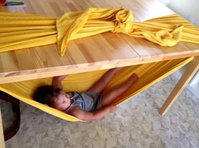 Parenting tip - hammock with a sheet