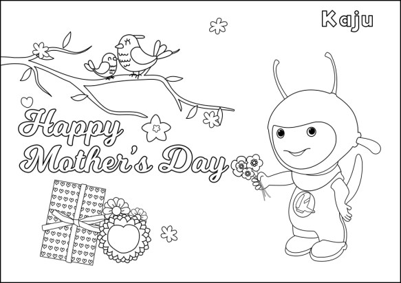 Mother's day coloring sheet