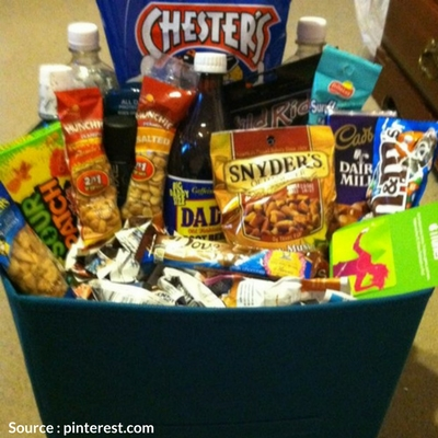 Goodie basket for father