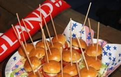 Food (Sliders) Served at England v Wales at Euro 2016 - Mini Burgers