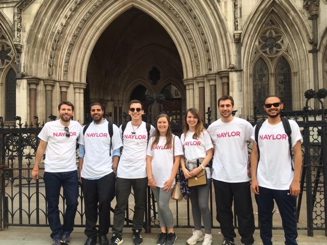 Naylor, Solicitors at the London Legal Walk 2018
