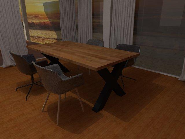 Dubové jídelní stoly, designové