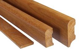 Dubové podlahové lišty