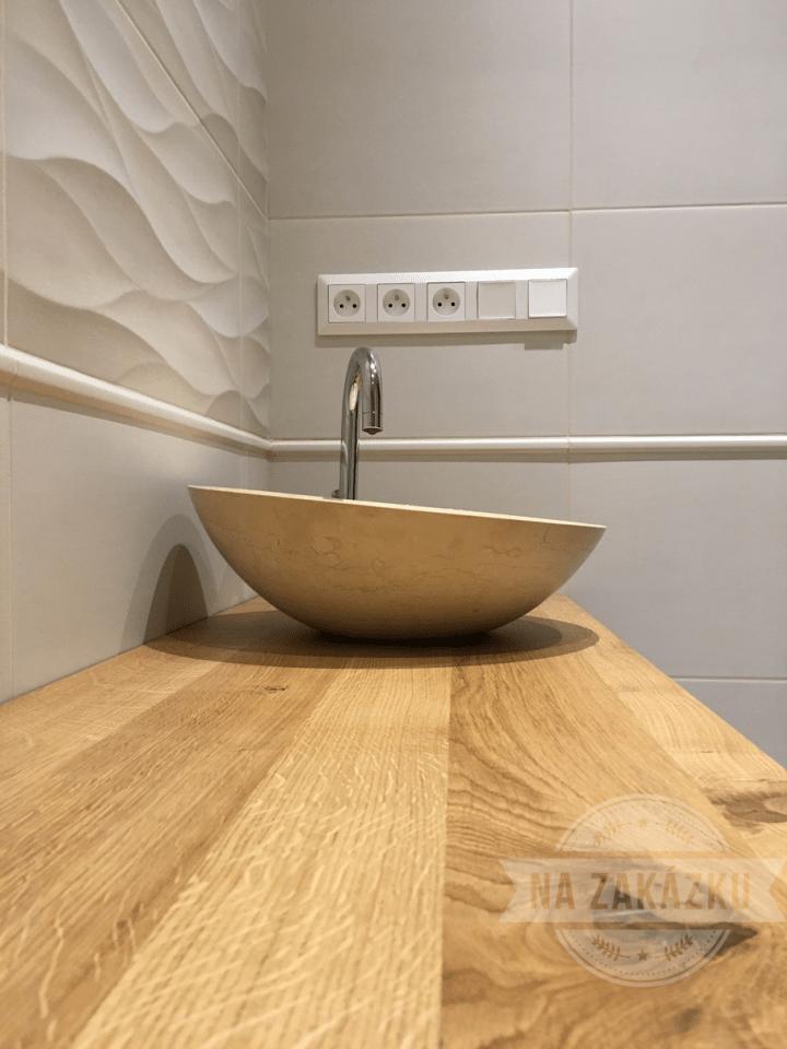 Designový koupelnový nábytek, dřevěná skřínka