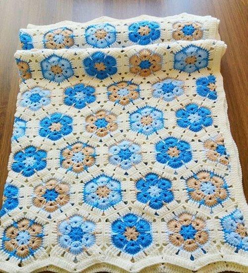 Crochet- African- Flower- Blankets