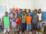 Professor Luciano com os alunos