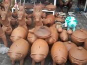 Porquinho de barro - Feira dos Caxixis - Nazaré/BA - Foto: Norberto Nicory
