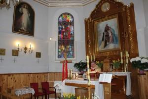 Poświęcenie obrazu Jezusa i Relikwiarza