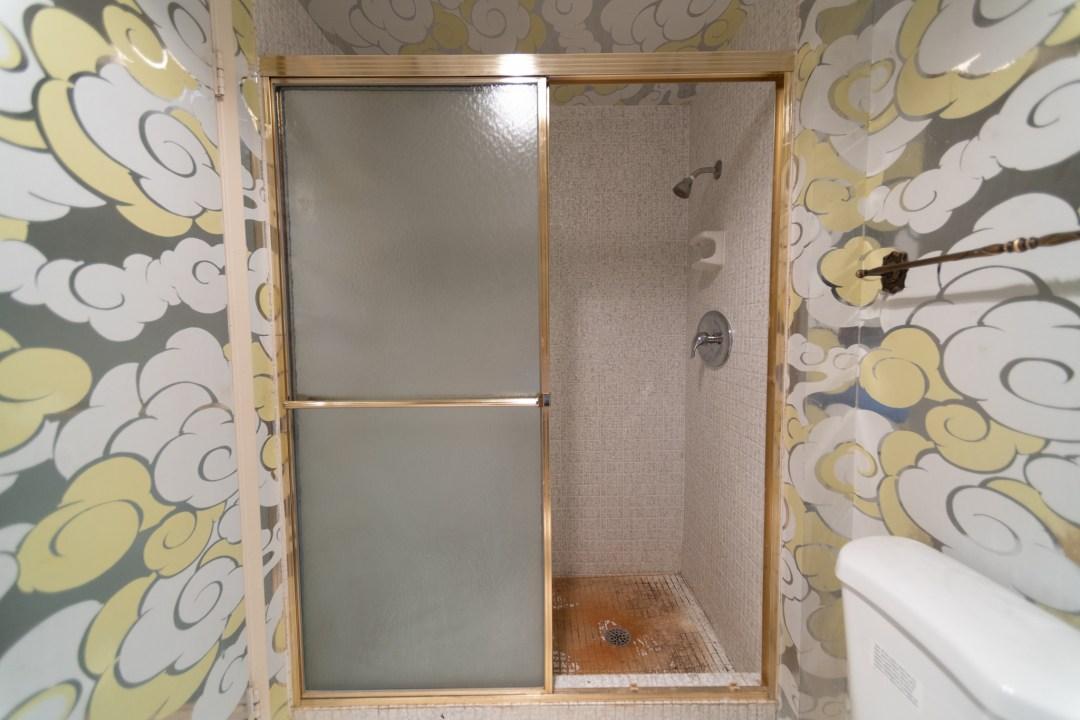 old shower remodel