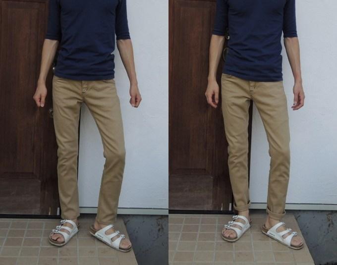 パンツ丈比較正面2