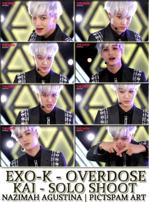 KAI solo shoot overdose pictsam art by nazimah agustina the show blonde 1