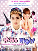 miss right oh sehun exo hwang somin oc fancy comedy romance family cover fanfiction percayalah padaku sekalipun kau masih meragukanku