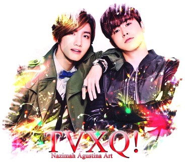 tvxq 11th homin anniversary color light splash art by nazimah agustina